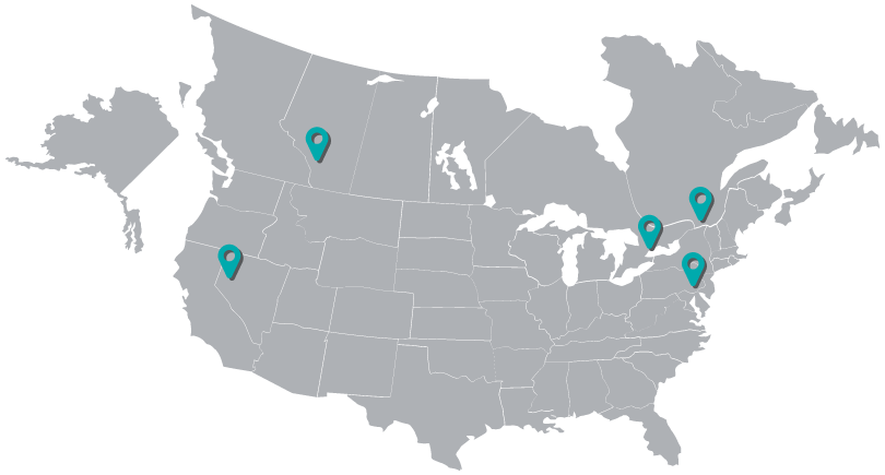 Responsive Map with locations