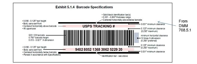 USPS IMpb Barcode Requirements